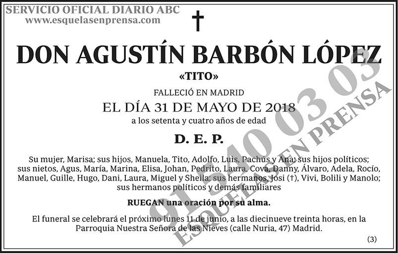 Agustín Barbón López